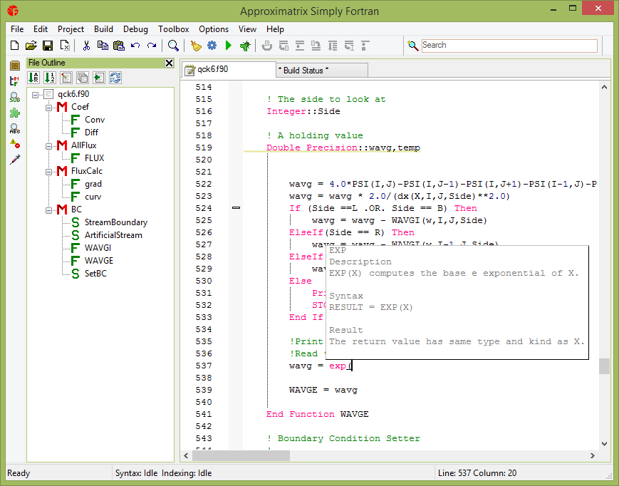 Simply Fortran Screen shot